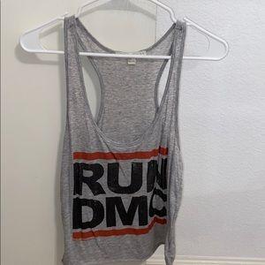 run dmc gray tank top